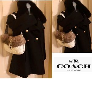 COACH Bag Rabbit, Leather, Suede, Coach Fabric